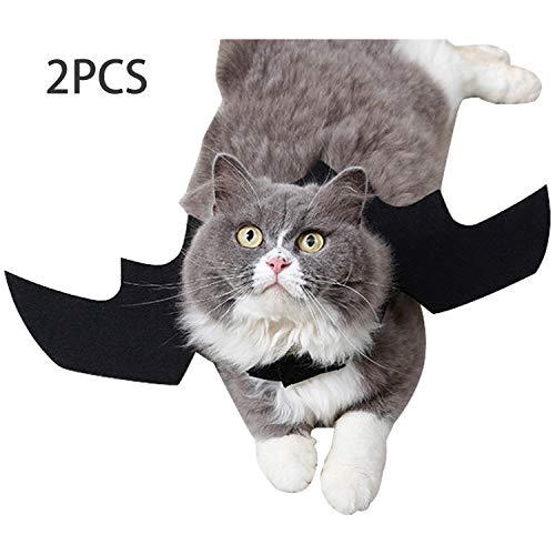 Pussy Kostüm - Boodtag 2 Pcs Katze Fledermaus Kostüm Pussy Bekleideung Haustier Fledermausflügel für Halloween Weihnachten