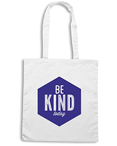 T-Shirtshock - Borsa Shopping CIT0043 Be Kind Today Bianco