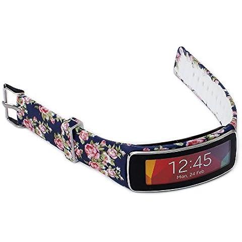 Greatfine Correa de muñeca para Galaxy Gear fit R350 SmartWatch accesorios de muñequera para reemplazo de bandas de reloj (Dark Blue