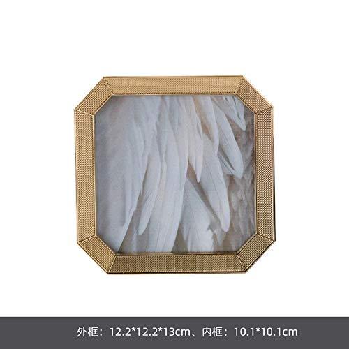 Bilderrahmen Fotorahmen Licht Luxus Schlafzimmer Set Tischdekoration wie Rahmen Hochzeit Hochzeitsfoto Foto Wand Metall - andere Größen sechs QIYAN
