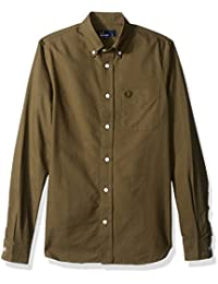 Fred Perry Hommes Chemise Oxford classique Ortie