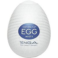 Tenga Huevo Misty, Funda Masturbadora, 4.9 x 6.1 x 4.9 cm, Color Blanco/Azul Marino/Plata - 40 gr