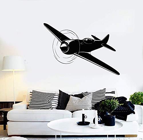 yiyiyaya Vinyl Wall Decal Flugzeug Flugzeug Pilot Aviator Aufkleber einzigartiges Geschenk84 * 57cm