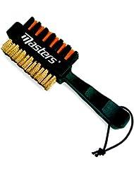 OptiClub Schlägerbürste - Rillenreiniger - Groovebürste mit Messing- und Kunststoffborsten zur optimalen Reinigung der Schläger und der Schlägerrillen