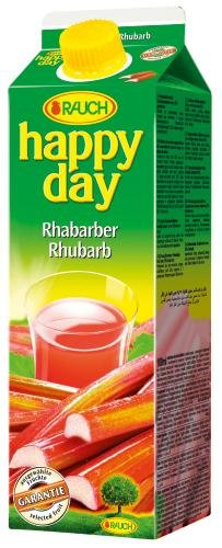 Rauch Happy Day Rhabarber, 6er Pack (6 x 1 l Packung)