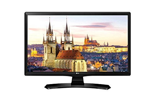 LG 24MT49DF-PZ - TV/Monitor de 24' (LED HD, 1366 x 768 pixels, 5 ms, brillo 250, estabilizador de negros, DAS)negro