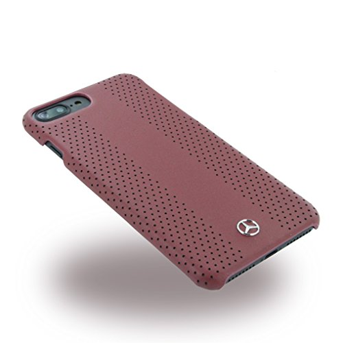 Mercedes MEHCP7LPEVSRE Echtleder Perforated Hart Schutzhülle für Apple iPhone 7 Plus rot rot