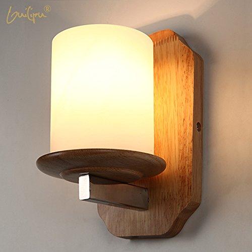 Nordic Lights Massivholz dekorative Beleuchtung Ideen moderne, minimalistische Leuchte gang Balkon Veranda warmen Bett Eiche hell Holz Holz LED Wandleuchte -