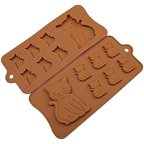 sincook 7-cavity Kitty Animali fondente Mold DIY Candy Forno Torta di cioccolato gelatina ghiaccio budino in Silicone