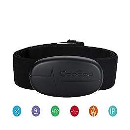 CooSpo, H6Dual Mode Bluetooth & ANT + cardiofrequenzimetro/Bluetooth V4 0wireless, per sport, con sensore a frequenza cardiaca e monitor con fascia toracica, Black, Ant+ bluetooth