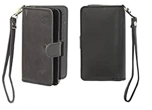 Jo Jo A9 Nillofer Leather Carry Case Cover Pouch Wallet Case For Elephone P6000 Black