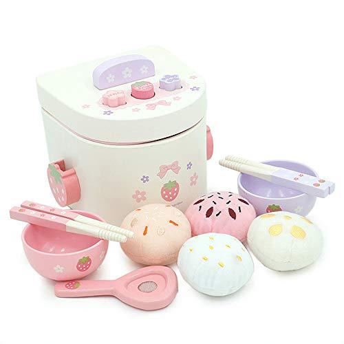 ortäuschungsmädchen der Kinder, das Spielwarenreiskocher-Simulationskleingeräteküchenreiskochergeschenke kocht ()