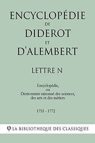 Encyclopédie de Diderot et d'Alembert - Lettre N