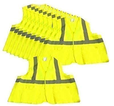 10 Warnwesten Neon Gelb Sicherheitswesten