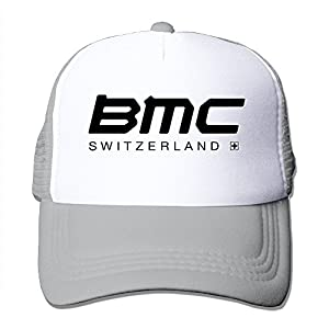 Feruch WuliNN BMC Racing Team Mesh Trucker Hat Outdoor Adjustable Baseball Cap For Unisex Ash