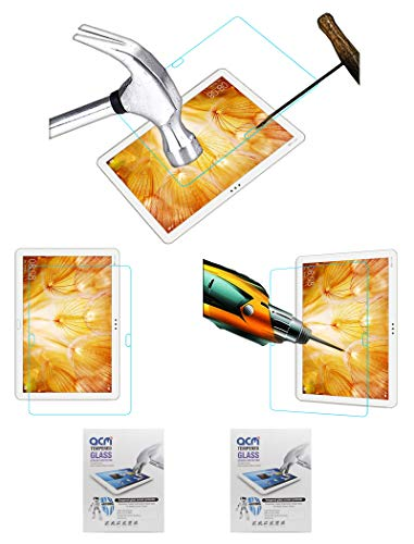 """Acm Pack of 2 Tempered Glass Screenguard Compatible with Huawei Mediapad M5 Lite 10.1"""" Tablet Screen Guard"""