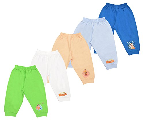 Luke and Lilly Chhota Bheem Baby Cotton Track Pant,pajamas pack of 5