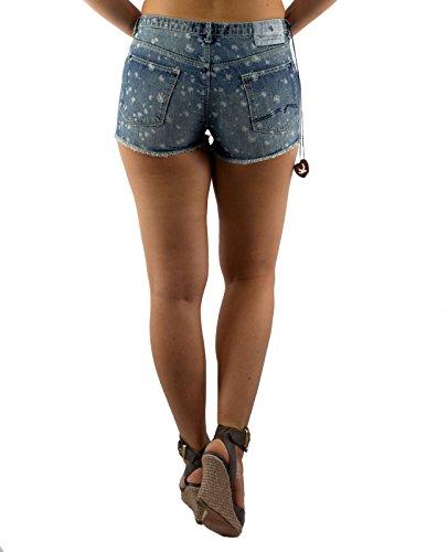 MAISON & SCOTCH Damen Hot Pants Minirock Kollektion 2 kurze Hose Shorts Modell 1 Hellblau