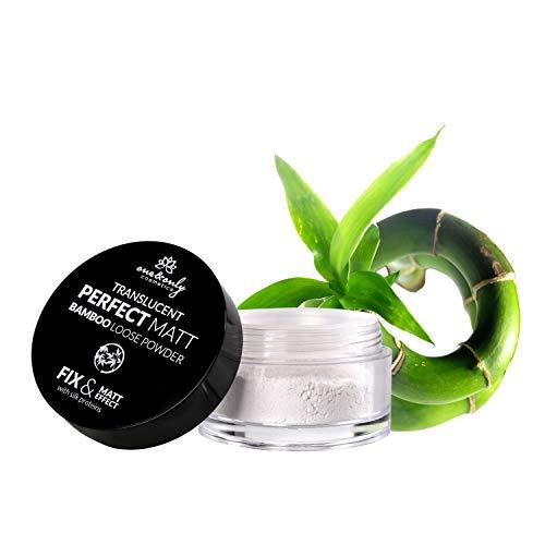 One&Only for Face Translucent Perfect Matt Bamboo Loose Powder 10g, Puder, Bambuspuder, Produkt für Frauen, ultraleicht, transparent, perfekte Mattierung, glatte Haut, kein glänzender Effekt - Frauen, Talkum-puder