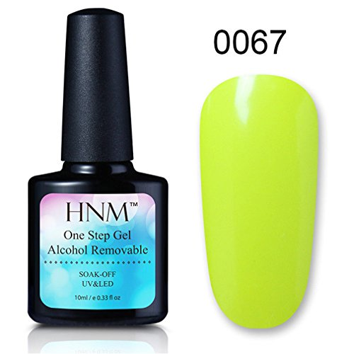 Vernis A Ongles Semi Permanent One Step Gel Polish Enlever par Ethanol UV LED Soak off Nail Art Manucure 10ml de HNM-67