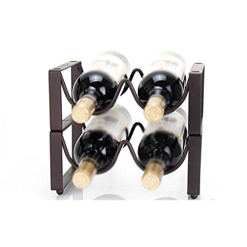 Xiao Jian- Weinregal, Creative Crafts, Kann 2/4/8 Flaschen Wein, Größe: 24 cm, Länge 11,5 cm, Höhe 24 cm, Höhe 23 cm, Höhe 45 cm, Länge 23 cm hoch Weinregal (größe : 24 cm Long 23 cm High)