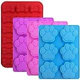 FineGood - Moldes de Silicona para Chocolate, diseño de Huella de Perro y Hueso,