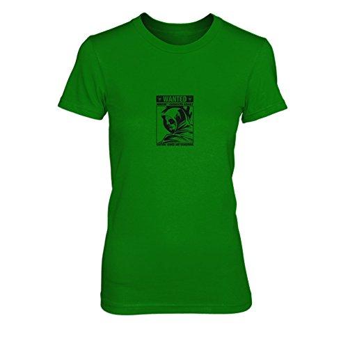 Wanted Arrow - Damen T-Shirt, Größe: M, Farbe: grün (Pfeil Speedy Kostüm)