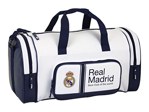 Safta 711654150 Real Madrid Bolsa de Deporte y Viaje, Color Blanco