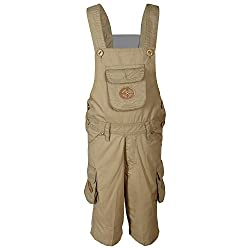 FirstClap Cotton Offwhite 3/4th Dungaree for Kids