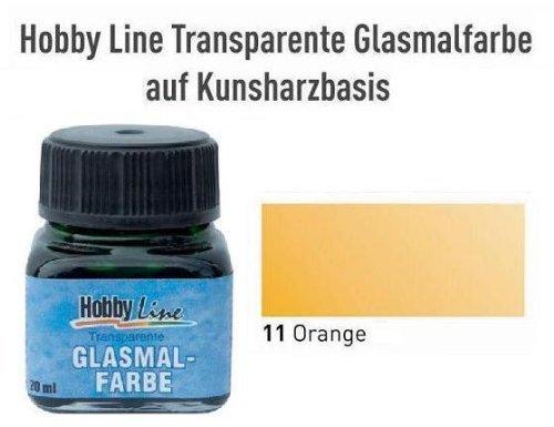 HOBBY LINE Glasmalfarbe transparent auf Kunstharzbasis Farblos Gl. 20 ml