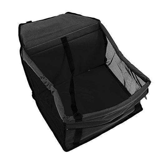 Easylifer auto hundetasche/hund auto tasche/auto hundetasche/ auto hundebox/ hund auto transport/ hund auto schutz/ hund auto transport rücksitz(schwarz)