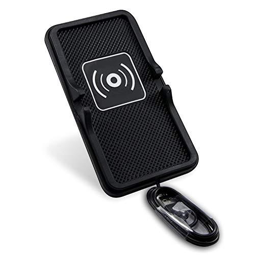 XZANTE Tappetino Antiscivolo per Auto con Supporto per Telefono Wireless Caricatore Wireless per iPhone XS Max XR