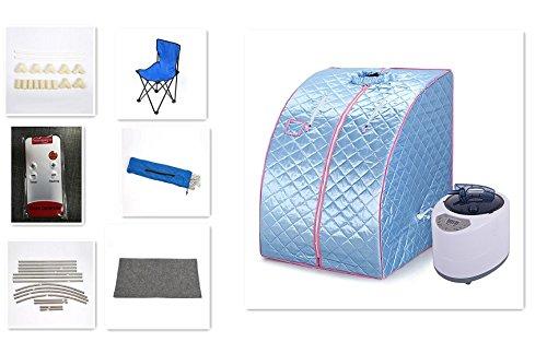 Mobile Dampfsauna Heimsauna Sauna Wärmekabine Sitzsauna Saunakabine (Blau)