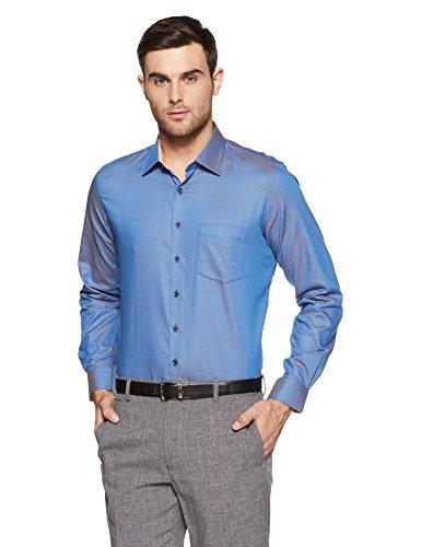 Van Heusen Men's Plain Regular Fit Casual Shirt (VHSFCCUPZ44389_White_44)