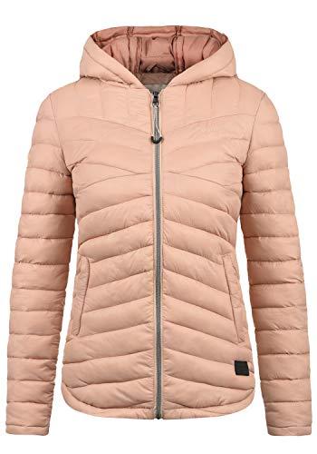 DESIRES Quella Damen Steppjacke Übergangsjacke Jacke Mit Kapuze, Größe:S, Farbe:Mahog. Rose...