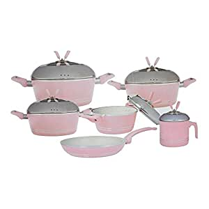Vaken Granite/Ceramic Coated Cookware Set ,10Pcs