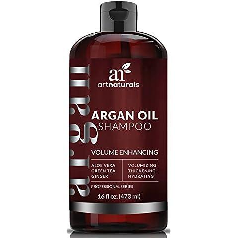 Art Naturals Shampoo Anticaduta All'Olio Di Argan Biologico 473 ml – Senza Solfati – Il Miglior Trattamento Contro La Caduta Prematura Dei Capelli, Il Diradamento E I Primi Segni Di Calvizie