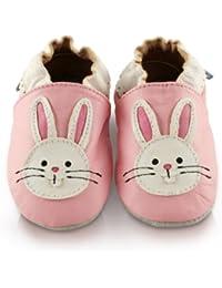 Snuggle Feet - Chaussons Bébé en Cuir Doux - Lapin
