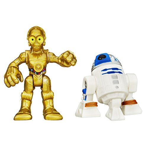 plakskool Spielzeug–Disney Star Wars Galactic Heroes–D2und c-3p0Action Figur Spielset