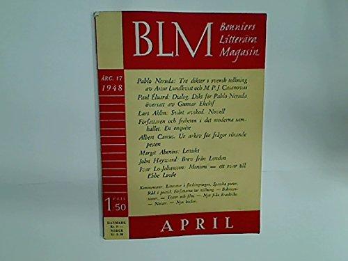 Tre dikter, tolkade av Artur Lundkvist och M J Casanovas, etc. (BLM: Bonniers Litterära Magasin, 17. Årg 17, April 1948, No 4)