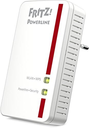 AVM Fritz Powerline 540E WLAN-Access Point (500 MBit/s, Fast-Ethernet-Anschlüsse) weiß