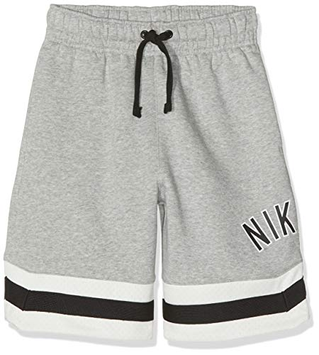 Nike Jungen B NK AIR BF Shorts, Dk Grey Heather/Sail/Black, XL -