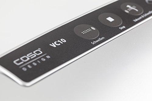 CASO VC10 Vakuumierer – Vakuumiergerät, Lebensmittel bleiben bis zu 8x länger frisch – natürliche Aufbewahrung ohne Konservierungsstoffe, 30cm lange Schweißnaht, einfach zu bedienen, inkl. 10 gratis Profi-Folienbeutel - 7