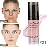 Moresave Gesicht Farbe Corrector Moisturizer Creme Basis Makeup Foundation Primer Natürliche Concealer(Pink, 6ml)