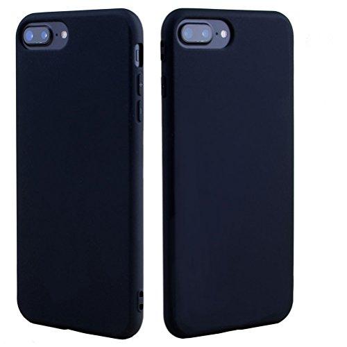 iPhone 7 Silikon hülle, Bestsky Stoßfest Anti-Fingerabdruck Anti-Scratch Bumper Cover Fein Matt Feder Leicht Handy Tasche Schutzhülle für iPhone 7, Kaffee Schwarz
