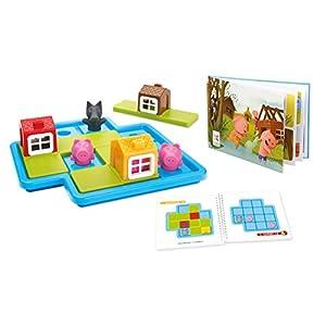 SmartGames Les Trois Petits Cochons – Deluxe Preescolar Niño/niña – Juegos educativos (Multicolor, Preescolar, Niño/niña, 3 año(s), 6 año(s), 48 pieza(s))