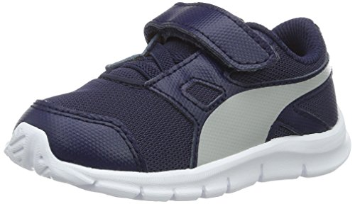 Puma Unisex-Kinder Flexracer V Inf Low-Top Blau (peacoat-gray violet 09)