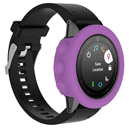Cyond Smart Watch - Schutzhülle, ultradünnes Silikonmaterial, Anti-Kollisions- / Kratzfestigkeit, hohe Elastizität, Sportuhr - Schutzhülle für die Garmin Fenix 5S Plus-Uhr (LiLa)