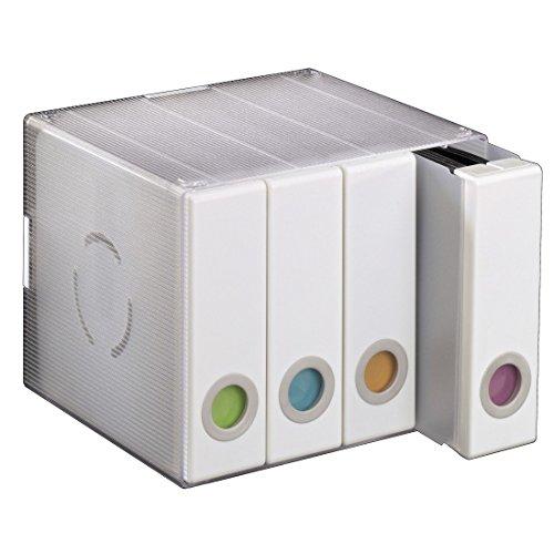 Hama CD/DVD/Blu-Ray Aufbewahrungsbox (für 96 CDs, 4 herausnehmbare Alben, beschreibbarer und auswechselbarer Farbeinsatz, Wandmontage möglich, CD-Archivierungssystem) weiß (Storage System Box)