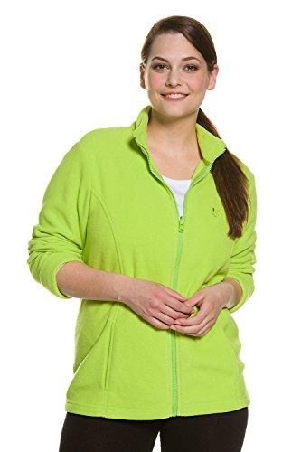 Ulla Popken Femme Grandes tailles Veste en polaire 695471 vert pomme